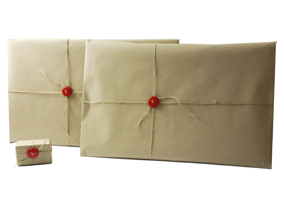 Упаковка Capsboard в крафт-бумагу